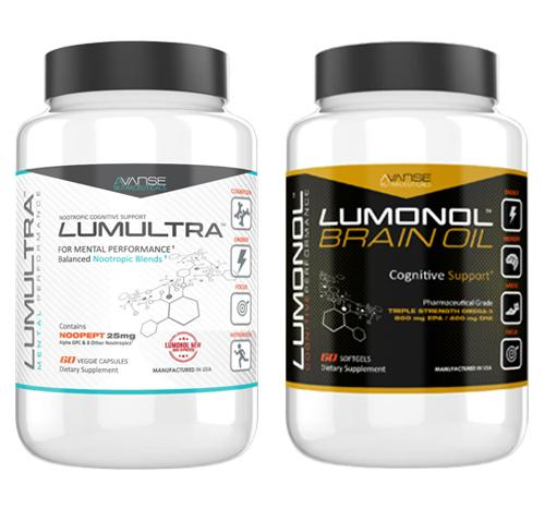 1 Bottle Lumultra + 1 Bottle Brain Oil (120ct) 1 Month Supply  by Lumultra