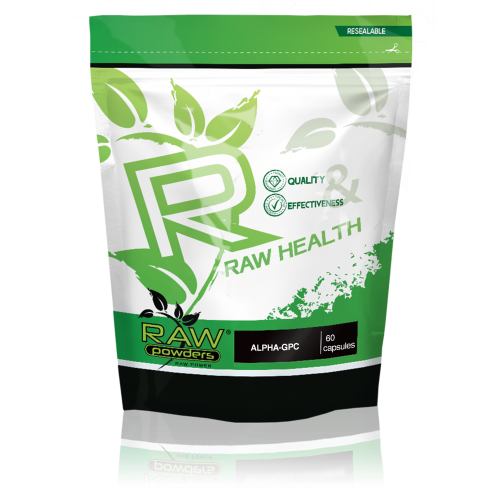 Buy rawpowders Alpha-GPC 250 mg. 60 Capsules nootropics supplement on sale