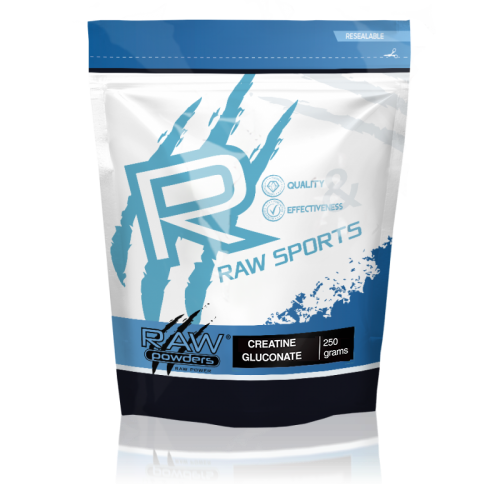 Buy rawpowders Creatine Gluconate Powder 250 grams nootropics supplement on sale