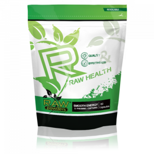 Buy rawpowders Smooth Energy (L-theanine + Caffeine) 60 Capsules nootropics supplement on sale